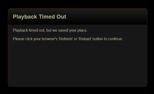 Netflix Error Message: Playback Timed Out